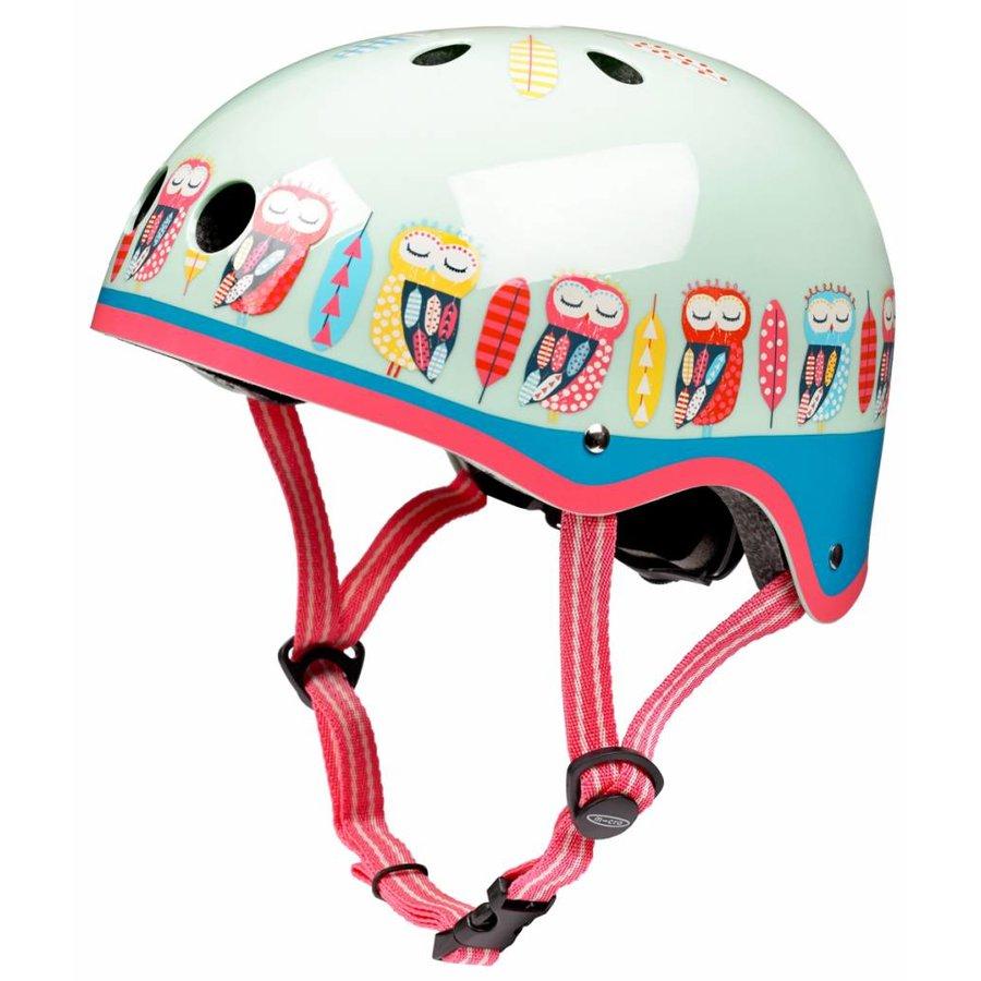 Micro helmet with Owl pattern