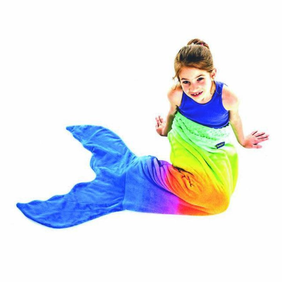 Blankie Tails mermaid blanket rainbow