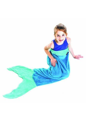 Blankie Tails mermaid blanket Blue/Aqua