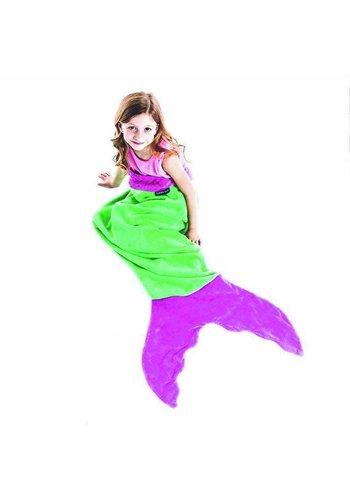 Blankie Tails meermaid blanket Green/Pink