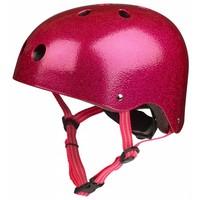 Micro helm roze glitter