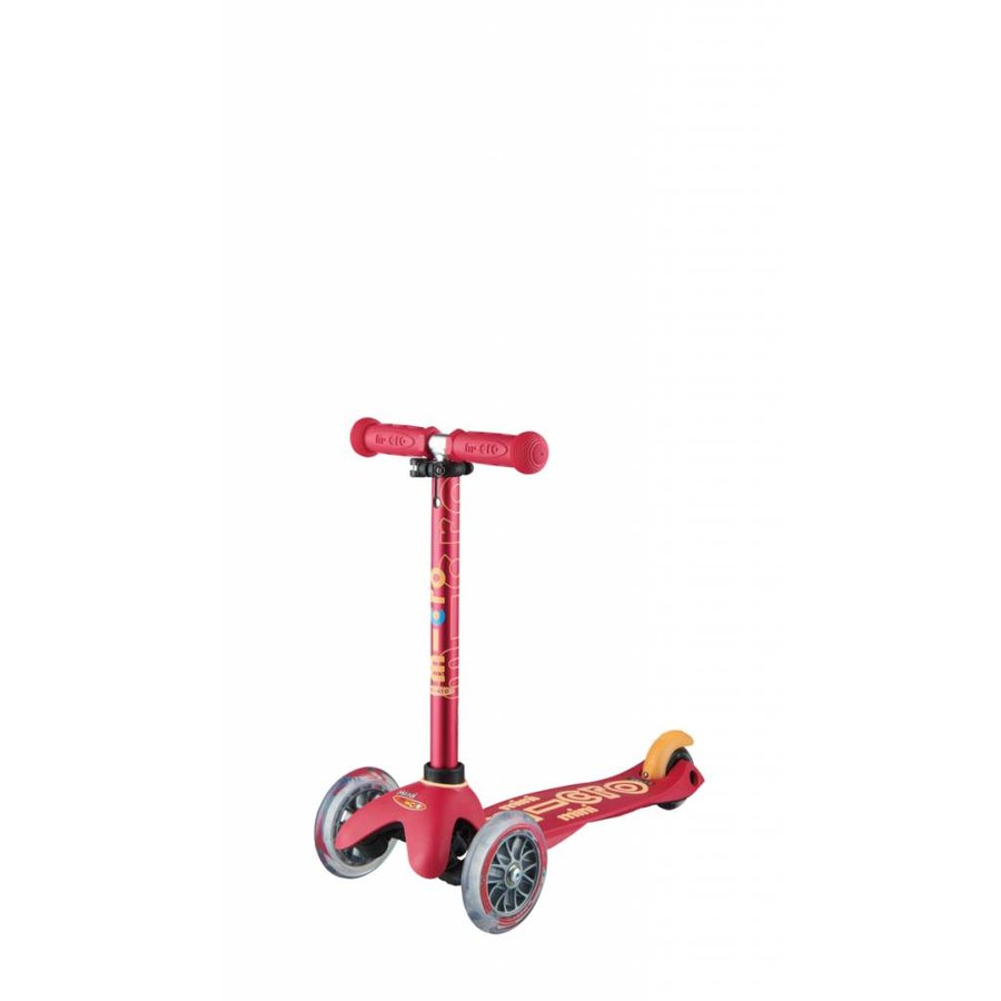 Mini Micro scooter 3in1 Deluxe Push Ruby Pink