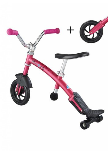 Micro Loopfiets Carver 2in1 roze