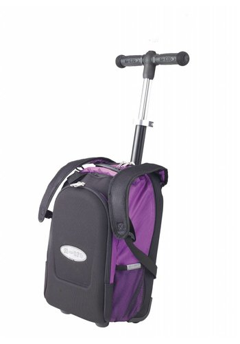 Maxi Micro rugzak/trolley + T-bar paars