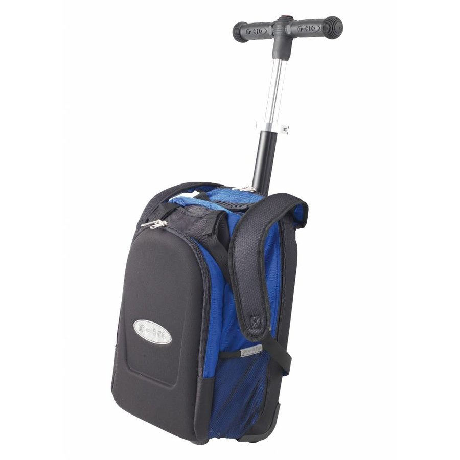 Maxi Micro backpack/trolley + T-bar blue