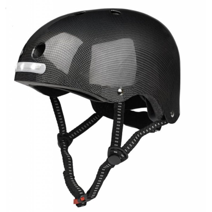 Micro helmet with built in LED lights