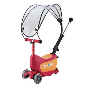 Micro Mini2go Deluxe Push Canopy Ruby red