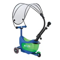 Micro Mini2go Deluxe Push Canopy crystal blue