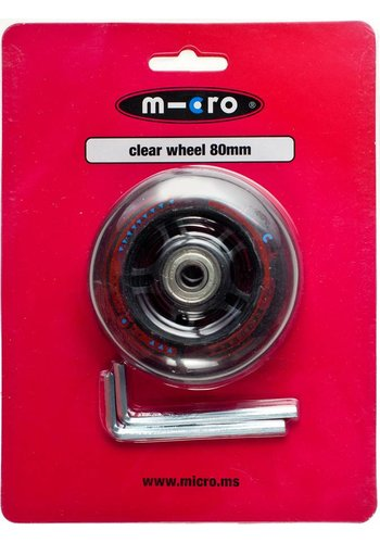 Micro wheel 80mm transparant (AC-5002B)