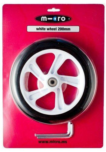 Micro wiel 200mm wit (AC5009B)