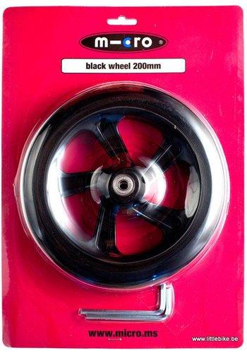 Micro wheel 200mm black (AC-5010B)
