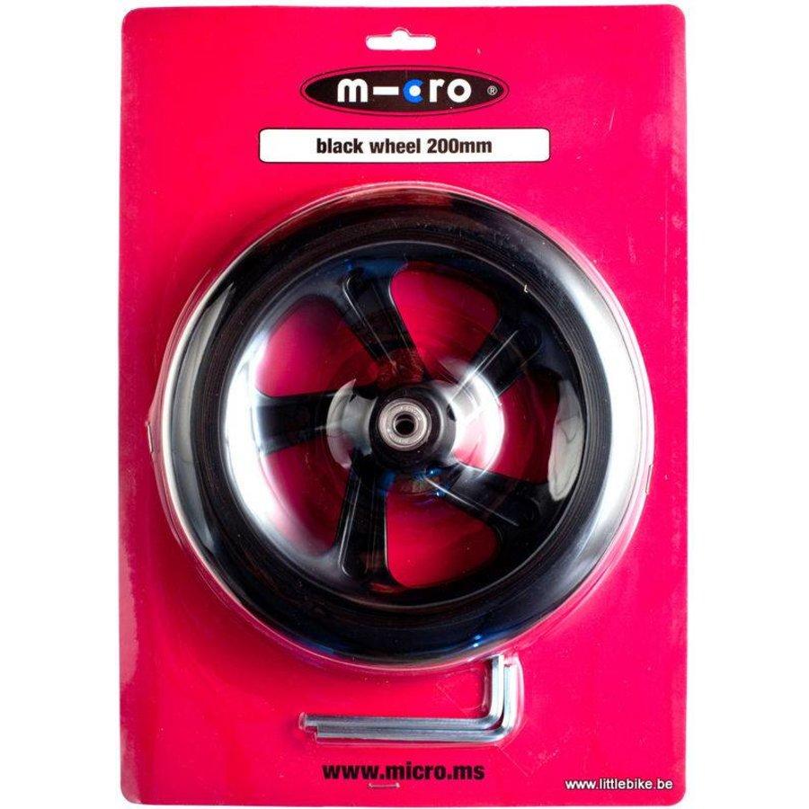 Micro wiel 200mm zwart (AC-5010B)