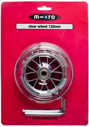 Micro wiel 120 mm transparant (AC5005B)