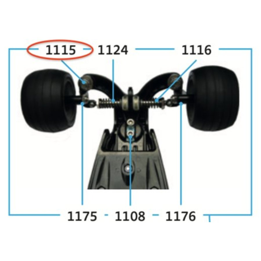 Moer voor wielophanging Kickboard (1115)