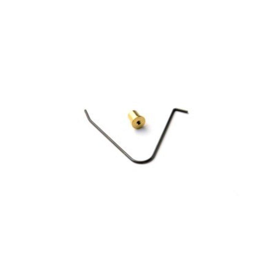 Goudkleurig druk knopje met veer voor handvat (1019)