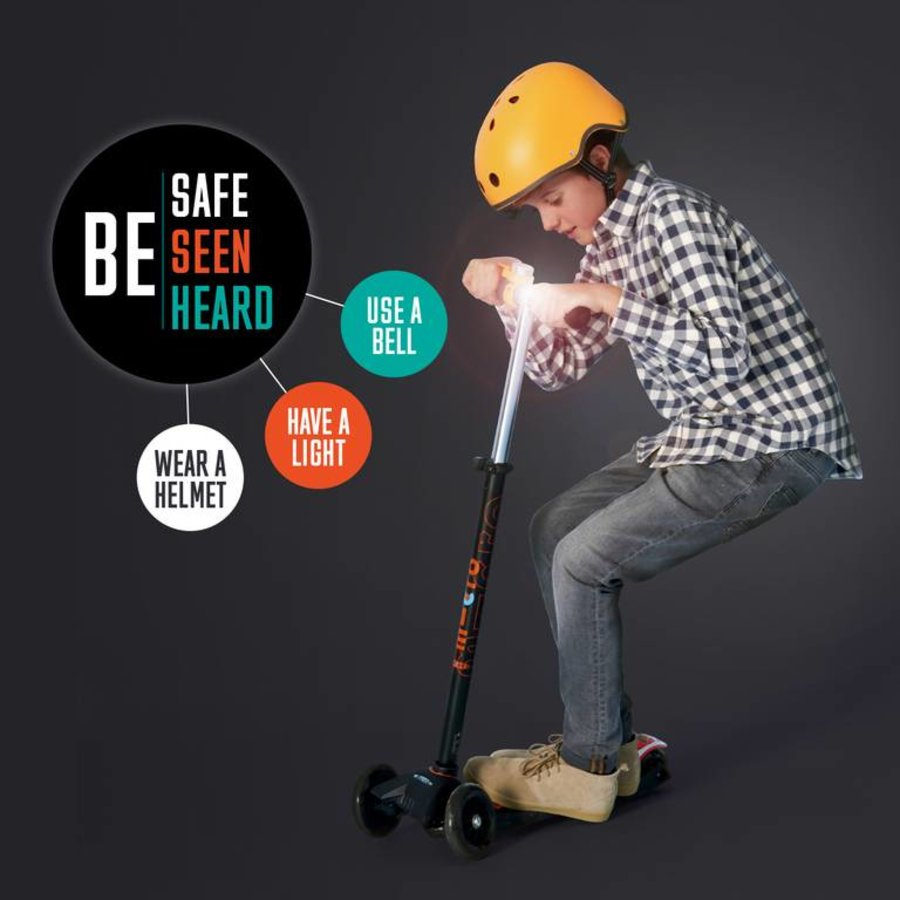 Micro safety set helmet/bell/light