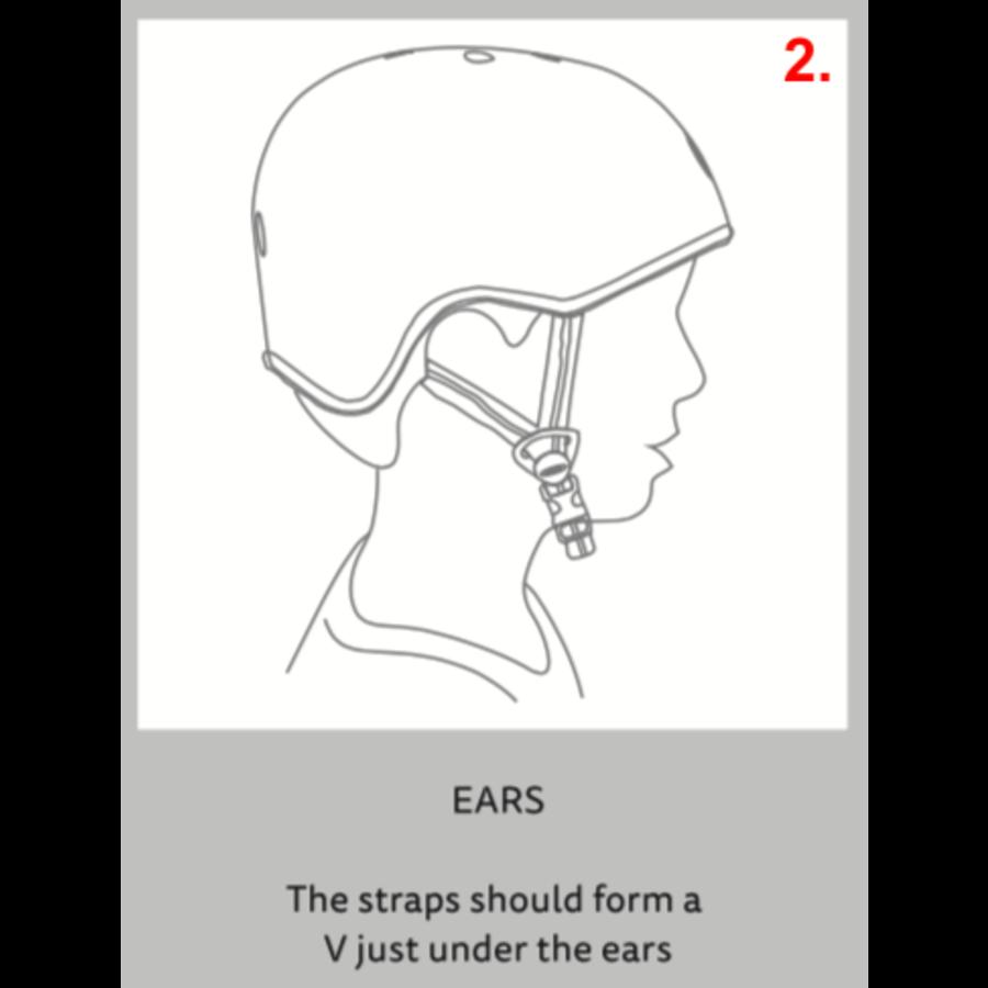 Micro ABS helm Deluxe Headphones blauw/roze