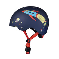 Mini Micro scooter Deluxe Navy Blue/Red LED