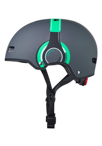 Micro ABS helmet Deluxe Headphones grey/green