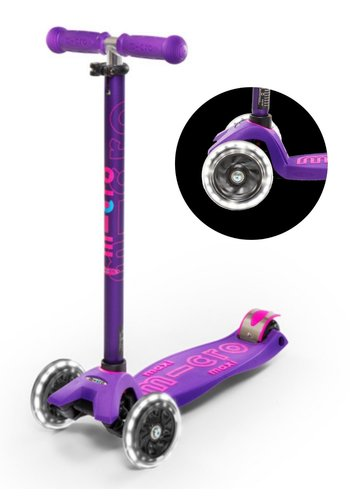 Maxi Micro scooter Deluxe LED Purple