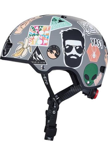 Micro helmet Deluxe Sticker design