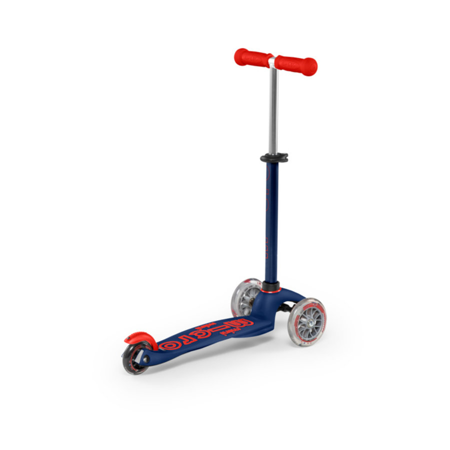 Mini Micro step Deluxe blauw / rood