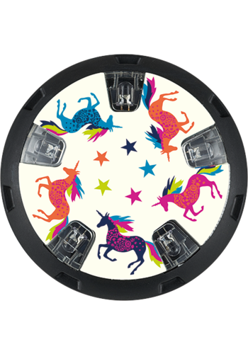 Micro LED wheel whizzers Unicorn