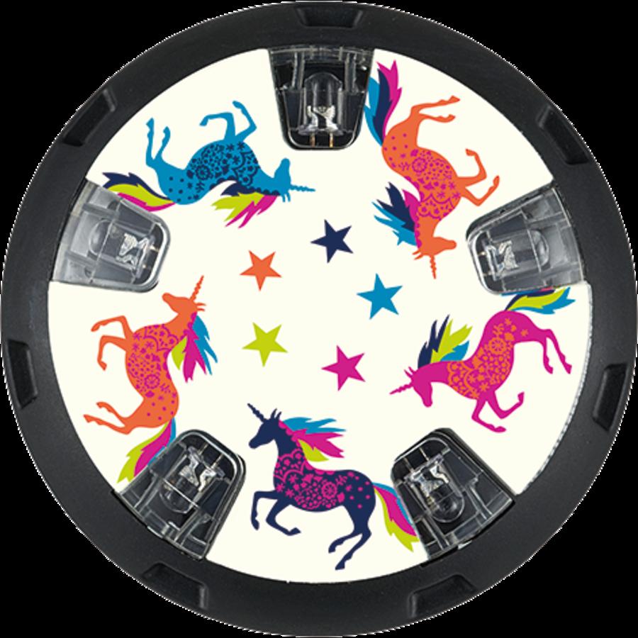 Micro LED wheel whizzers Unicorn