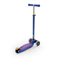 Maxi Micro scooter Deluxe blauw LED