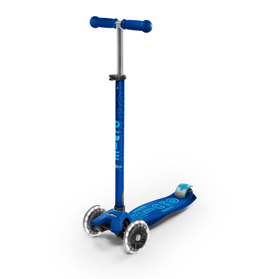 Maxi Micro scooter Deluxe Navy Blue LED