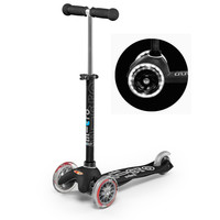 Mini Micro scooter Deluxe Black LED