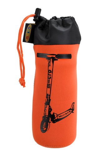 Micro flessenhouder 2-wiel step oranje