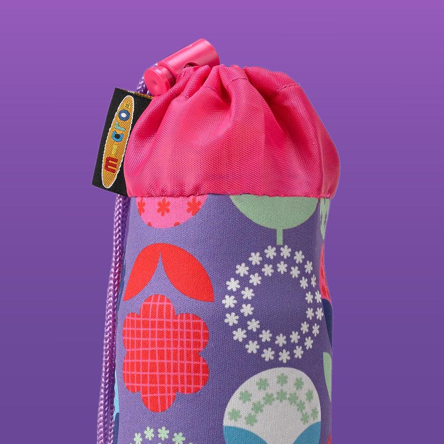 Micro flessenhouder 2-wiel step paarse bloemen