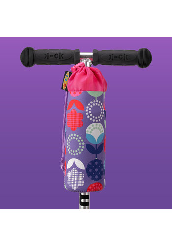 Micro Bottle holder purple flowers