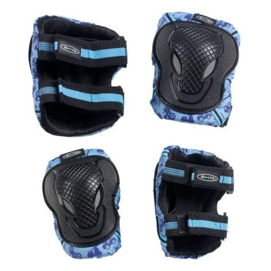 Micro knie en elleboogbeschermers blauw