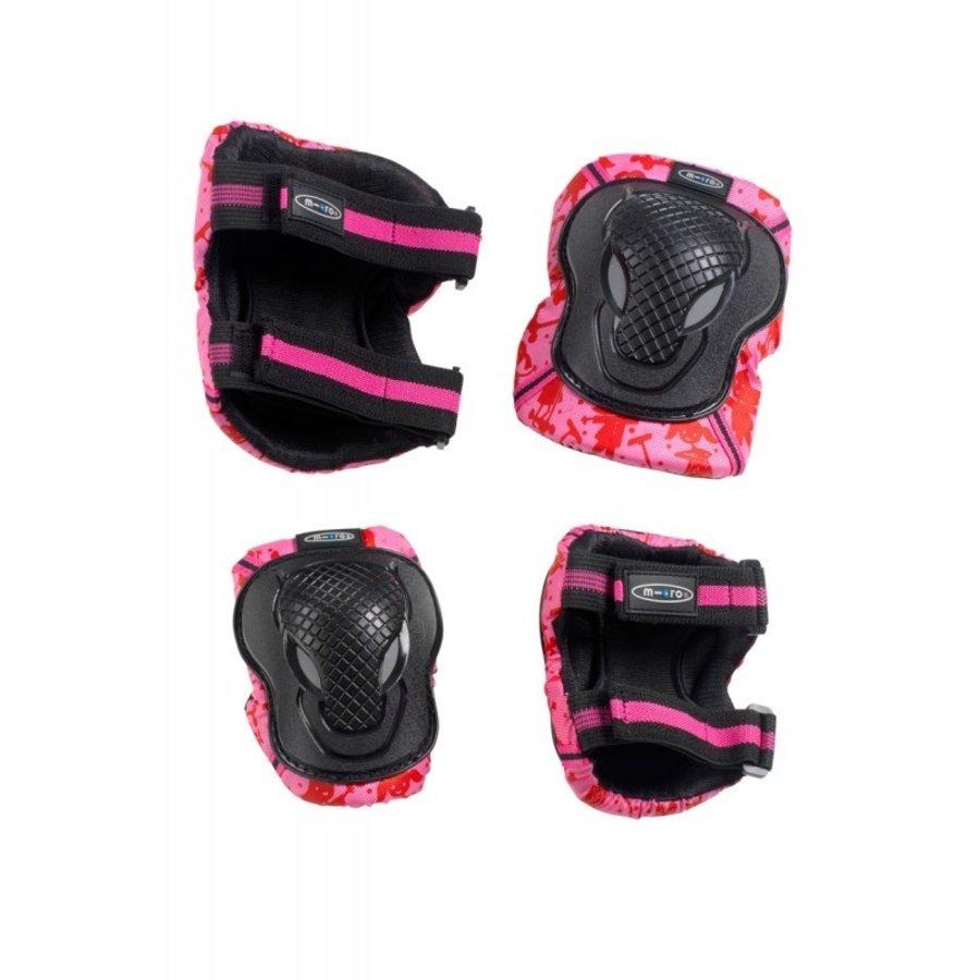 Micro knie en elleboogbeschermers roze