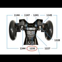 Afdekplaatje + schroeven voor B-bend stuurveer (1235)