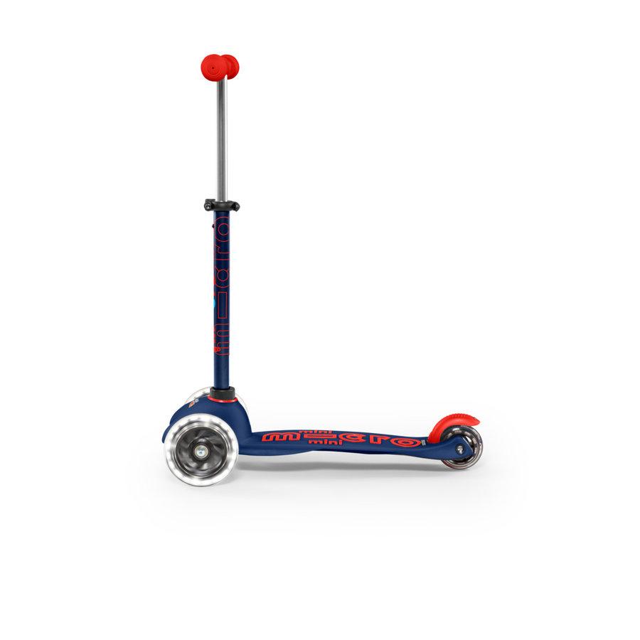 Mini Micro step Deluxe marineblauw/rood LED