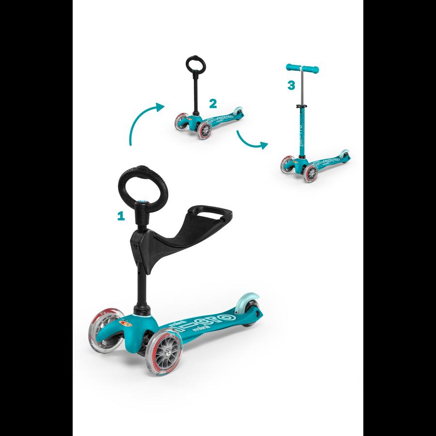 Mini Micro scooter 3in1 Deluxe Aqua