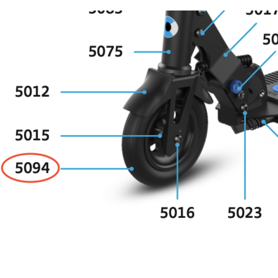 Front wheel Falcon (5094)