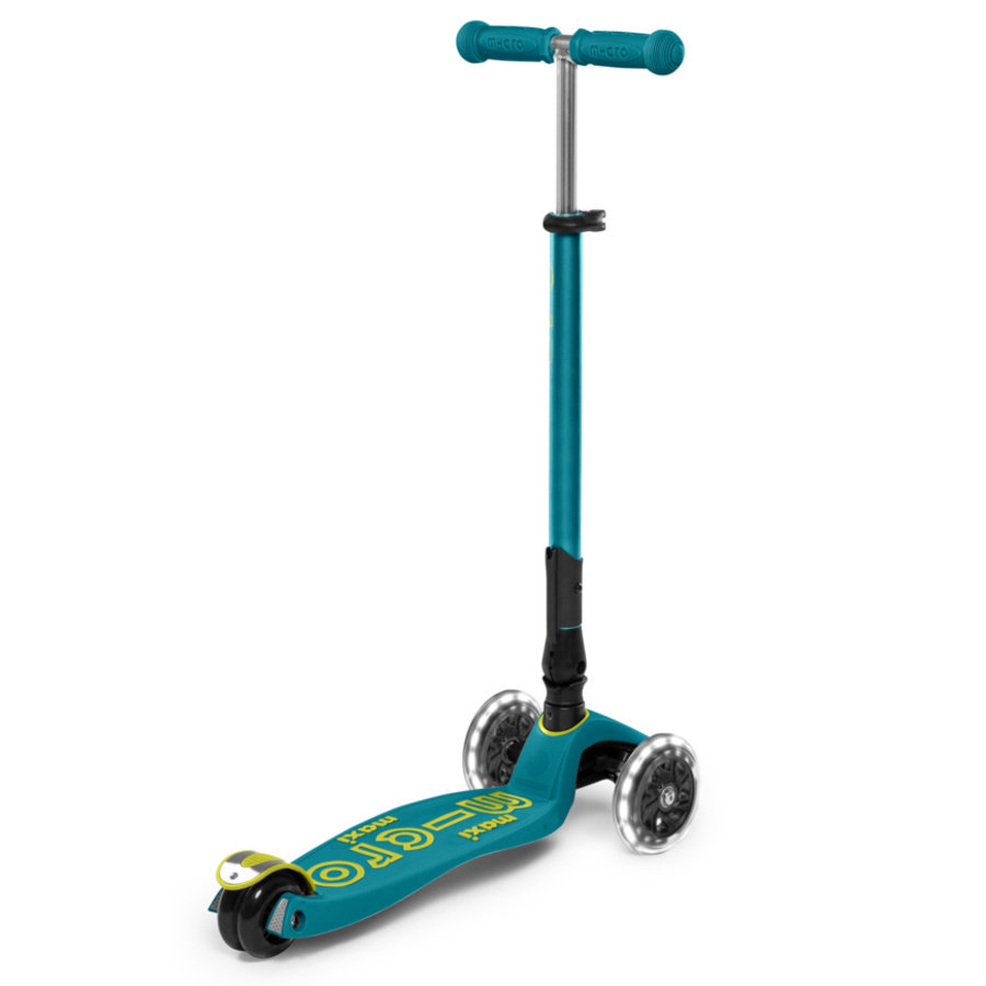 Maxi Micro scooter Deluxe Foldable Petrol Green LED