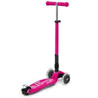 Maxi Micro scooter Deluxe Foldable Neon pink LED