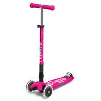 Maxi Micro step Deluxe inklapbaar neon roze LED