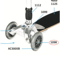 bout voorwiel Kickboard (1098)