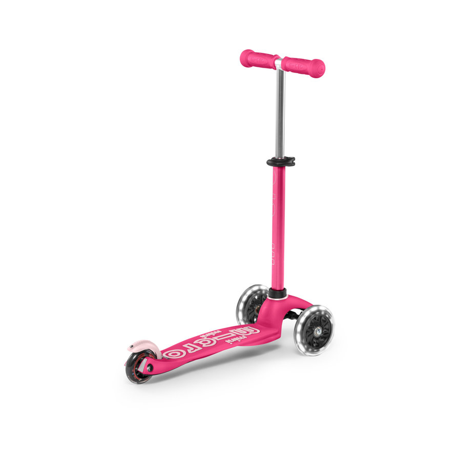 Mini Micro step 3in1 Deluxe Push LED roze