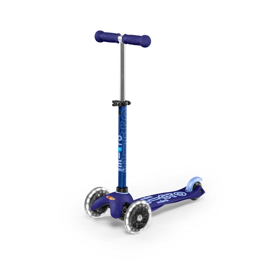 Mini Micro step 3in1 Deluxe Push LED blauw