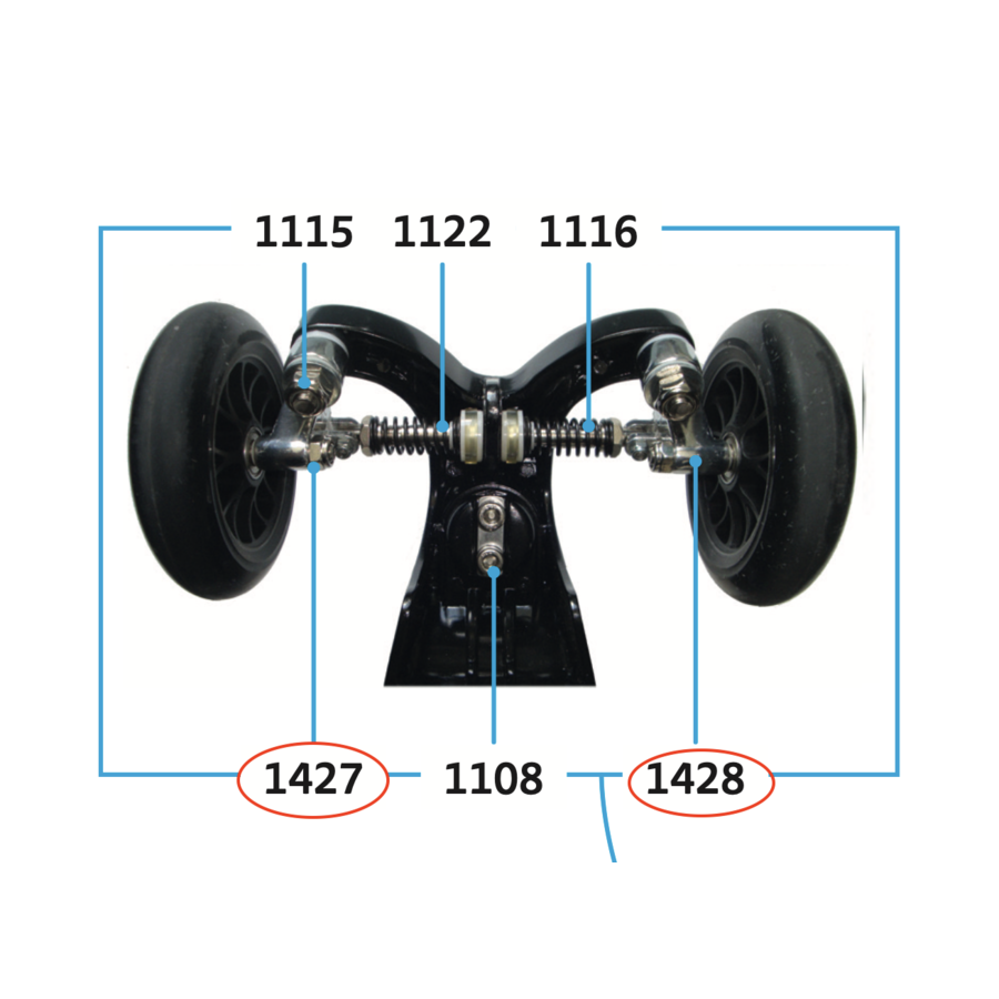 wielophanging Kickboard Compact (1427/1428)