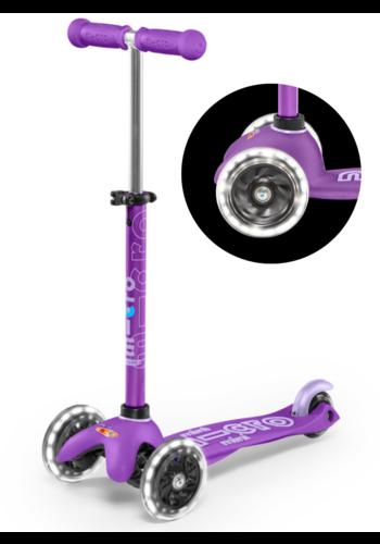 Mini Micro scooter Deluxe LED Purple