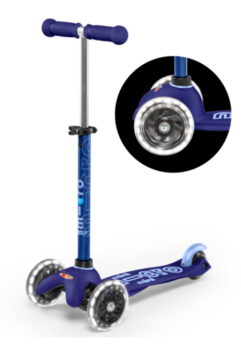 Mini Micro scooter Deluxe LED Blue