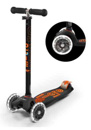 Maxi Micro scooter Deluxe LED Black
